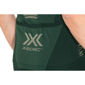 X-Bionic Invent 4.0 Bike Race Maillot Manches courtes Zip Homme, pine green/amazonas green